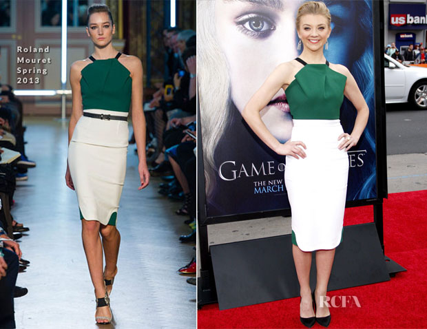 Natalie Dormer In Roland Mouret - 'Game of Thrones' LA Premiere