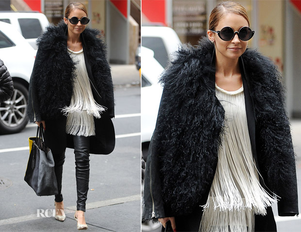 Nicole Richie In Helmut Lang, J Brand & Stella McCartney - The Today Show