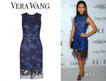Nina Dobrev's Vera Wang Lace Dress