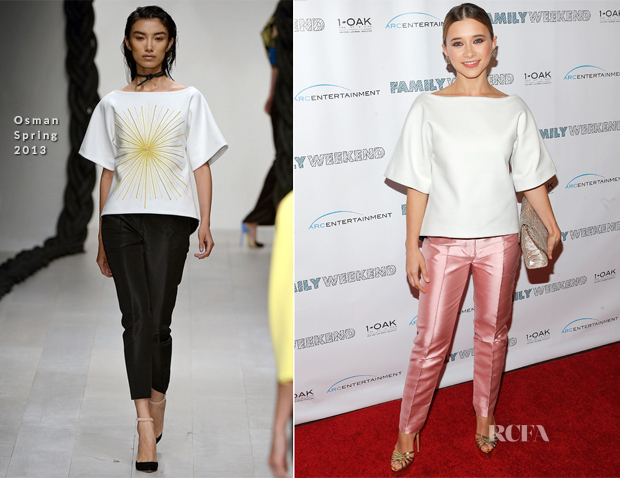 Olesya Rulin In Osman - 'Family Weekend' New York Premiere