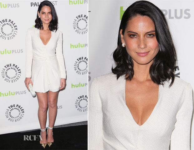 Olivia Munn In J Mendel - PaleyFest 2013 Honoring 'The Newsroom'