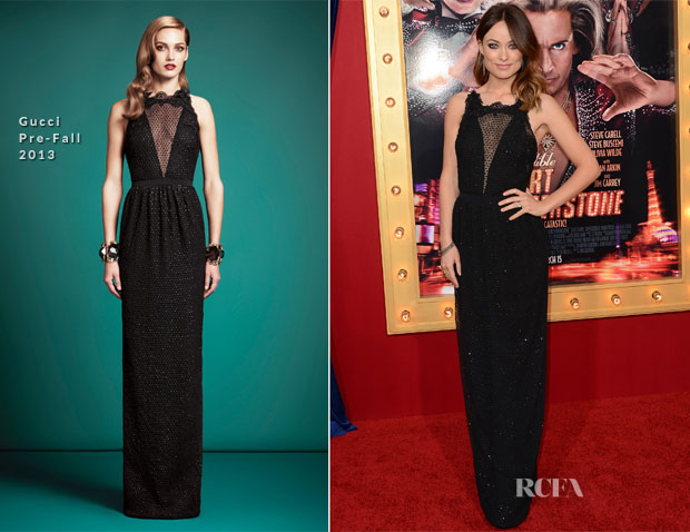 Olivia Wilde In Gucci - 'The Incredible Burt Wonderstone' LA Premiere