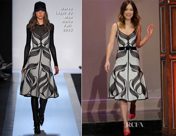 Olivia Wilde In Hervé Léger By Max Azria - The Tonight Show With Jay Leno