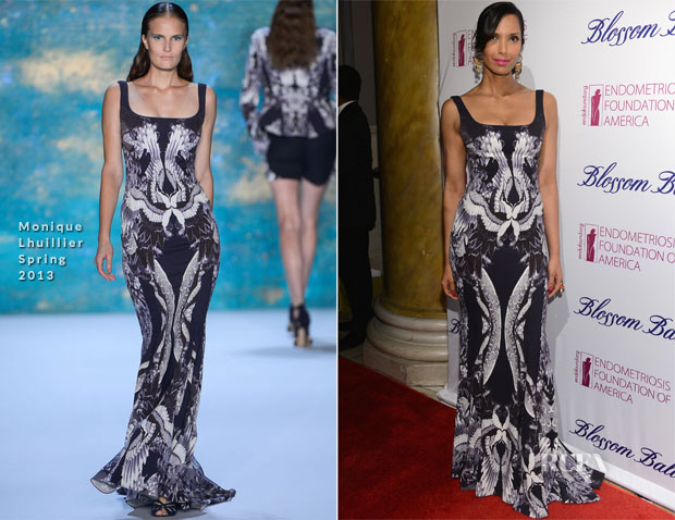 Padma Lakshmi In Monique Lhuillier - 5th Annual Blossom Ball