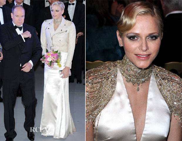 Princess Charlene of Monaco In Ralph Lauren - Bal de la Rose du Rocher