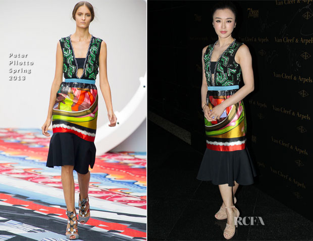Qiu Lan In Peter Pilotto - 7th Asian Film Awards Cocktail Party