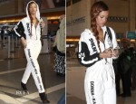Rihanna In DKNY for Opening Ceremony - LAX