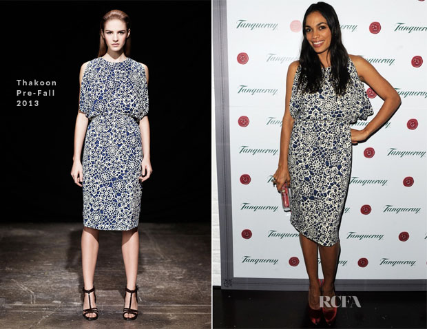 Rosario Dawson In Thakoon - Tanqueray Gin Palace Launch