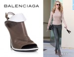 Rosie Huntington-Whiteley's Balenciaga Bicolour Glove Shoes