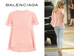 Rosie Huntington-Whiteley's Balenciaga Trapeze Blouse
