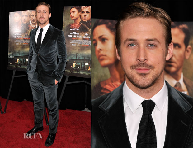 Ryan Gosling In Gucci - 'The Place Beyond The Pines' New York Premiere
