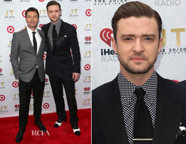 Ryan Seacrest & Justin Timberlake In Tom Ford - iHeartRadio '20 20′ Album Release Party With Justin Timberlake