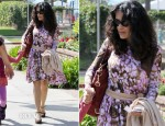 Salma Hayek In McQ Alexander McQueen - Out In Santa Monica