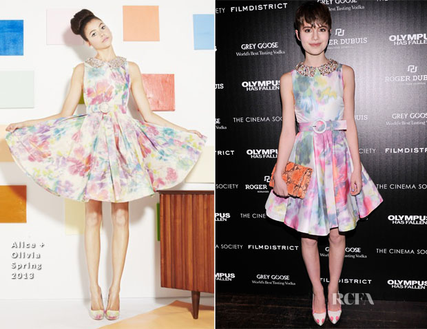 Sami Gayle In Alice + Olivia - 'Olympus Has Fallen' New York Screening
