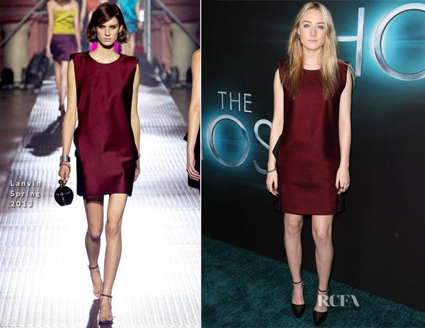Saoirse Ronan In Lanvin - 'The Host' LA Premiere