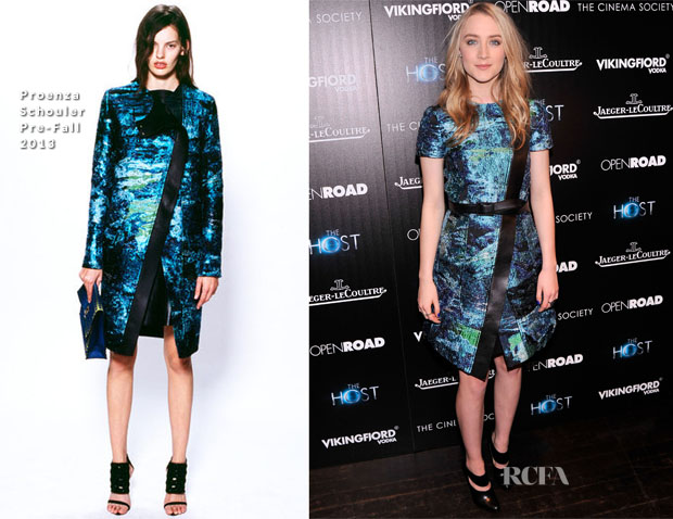 Saoirse Ronan In Proenza Schouler -  'The Host' New York Premiere