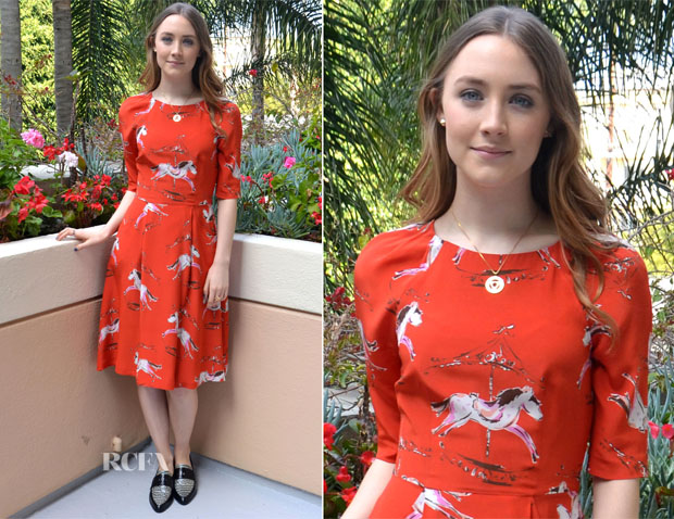 Saoirse Ronan In Tabitha Webb - 'The Host' LA Press Conference