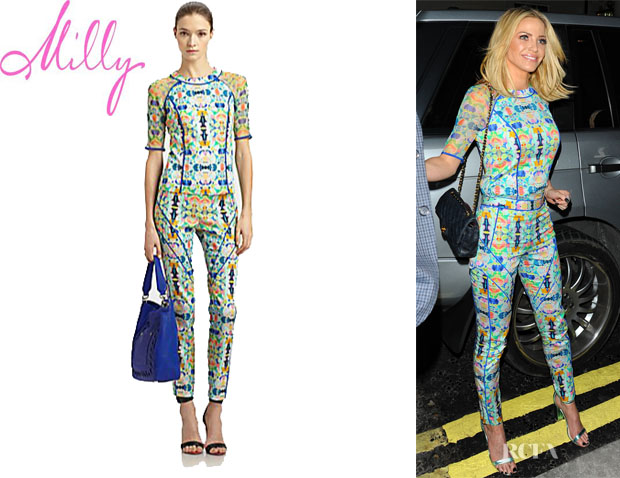 Sarah Harding's Milly Mesh Surfer Top And Milly Piped Racer Pants
