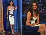 Selena Gomez In Antonio Berardi - Late Night with Jimmy Fallon