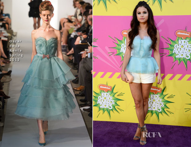 Selena Gomez In Oscar de la Renta S13 - 2013 Nickelodeon Kids' Choice Awards