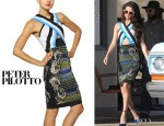 Selena Gomez' Peter Pilotto Techno Jersey Dress