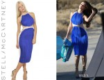 Selena Gomez' Stella McCartney Pleated Silk Organza Dress
