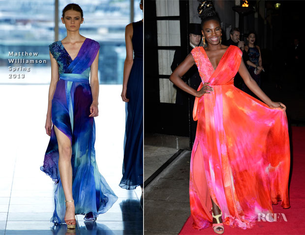 Shingai Shoniwa In Matthew Williamson - Helping Hands VIP Fundraising Dinner