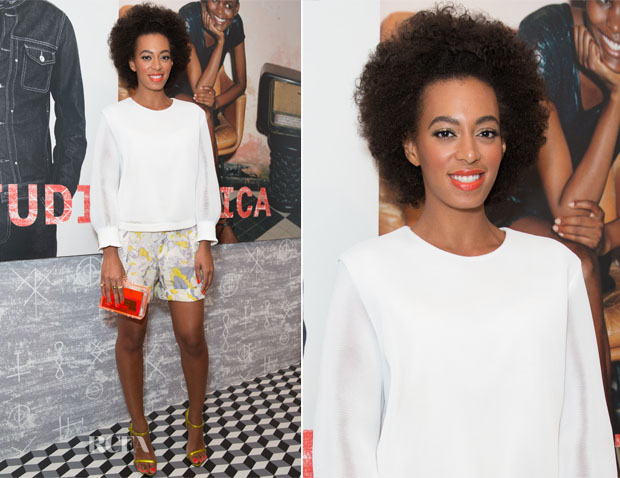 Solange Knowles In Theyskens' Theory & Edun - DIESEL + EDUN Studio Africa Event