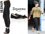 Sophia Bush's Hudson 'LouLou' Tux Jeans And Repetto 'BB' Ballet Flats
