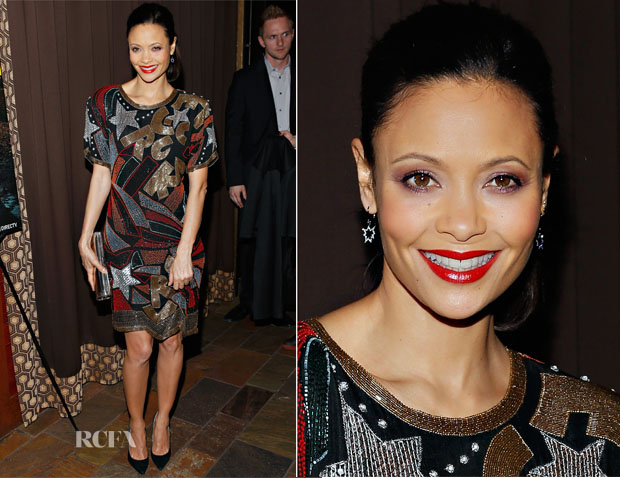 Thandie Newton In Vintage Swee Lo - 'Rouge' New York Premiere