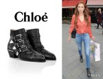 Una Healy's Chloé 'Susanna' Studded Leather Boots