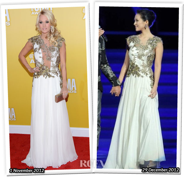 Who Wore Reem Acra Better Carrie Underwood or Zhang Ziyi