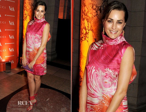 Yasmin Le Bon In Gucci SS13 - 'David Bowie Is' Exhibition