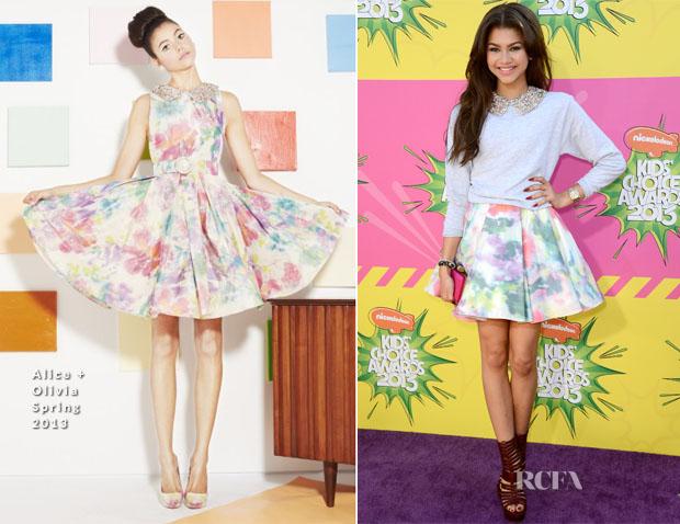 c30be407d091 Zendaya Coleman In Alice + Olivia – 2013 Nickelodeon Kids  Choice Awards