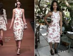 Zoe Saldana In Carven - 2nd Annual 25 Most Powerful Stylists Luncheon