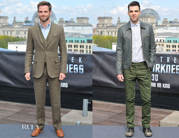 'Star Trek Into Darkness' Berlin Photocall Menswear Round Up