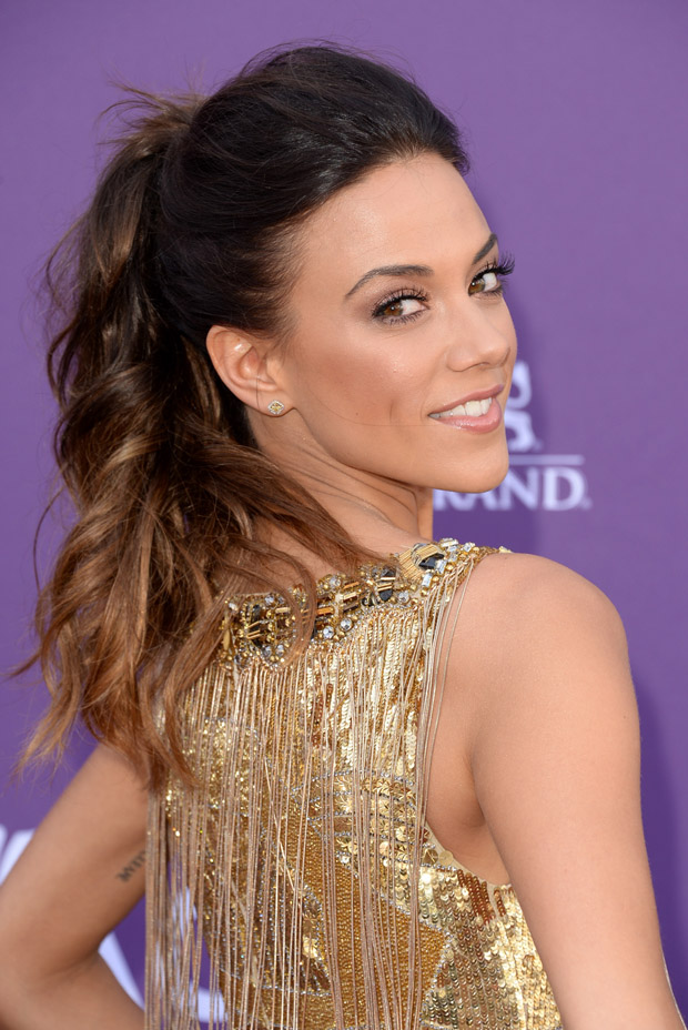 Jana Kramer in Badgley Mischka