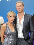 Elsa Pataky in Naeem Khan and Chris Hemsworth in Calvin Klein
