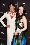 Paula Patton in Gucci and Andrea Riseborough in Proenza Schouler