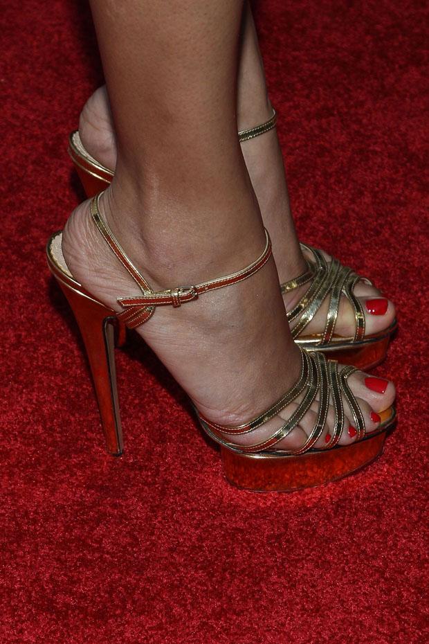 Fredia Pinto's Charlotte Olympia heels