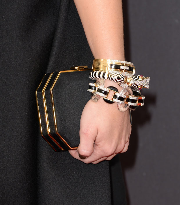 Holland Roden's Amanda Pearl clutch and David Webb jewels