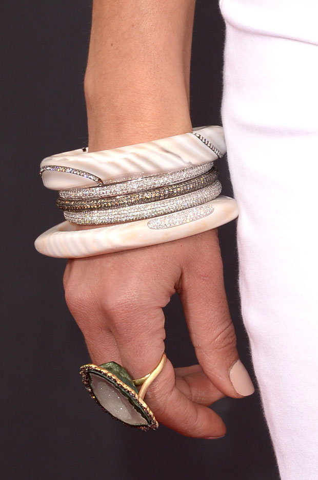 Jordana Brewster's bracelets