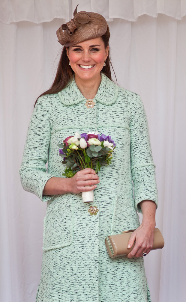 Catherine, Duchess of Cambridge in Mulberry