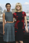 Zoe Saldana in Calvin Klein and Alice Eve in Reem Acra
