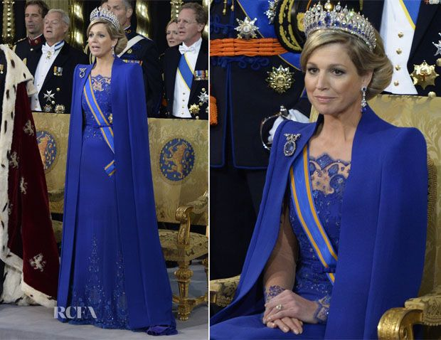 Queen Máxima of the Netherlands In Jan Taminiau – Inauguration Of King Willem Alexander of the Netherlands