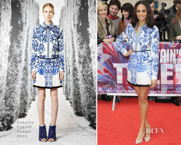 Alesha Dixon In Roberto Cavalli - Britain's Got Talent Press Launch