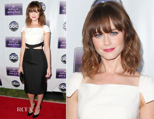 Alexis Bledel In Pamella Roland - 'Remembering Sunday' Premiere