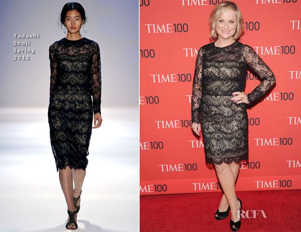 Amy Poehler In Tadashi Shoji -  2013 Time 100 Gala
