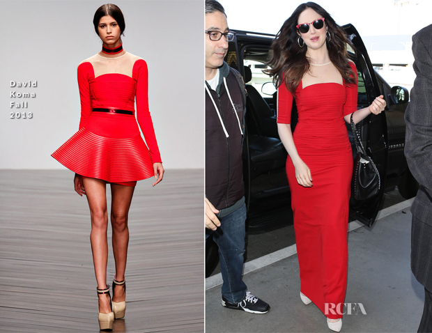 Andrea Riseborough In David Koma - LAX Airport