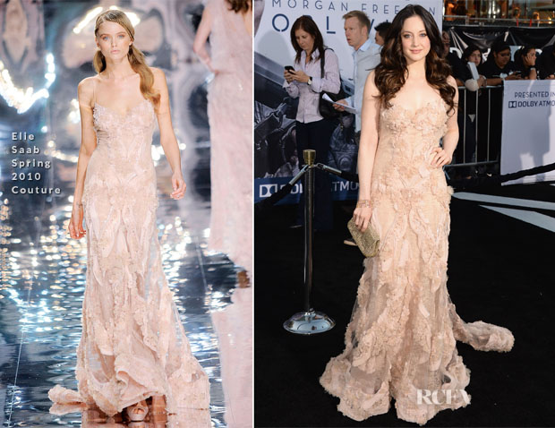 Andrea Riseborough In Elie Saab Couture - 'Oblivion' LA Premiere